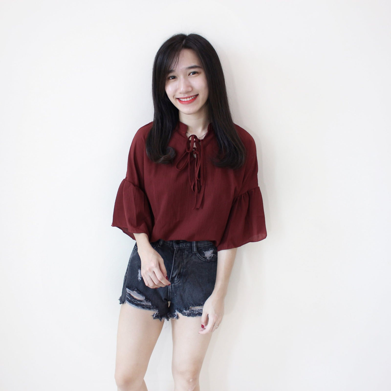 Ribbon Flare Dolly Top