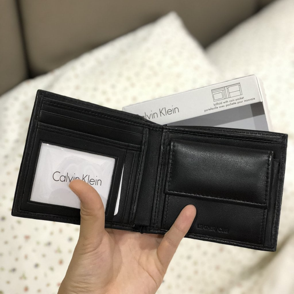 CALVIN KLEIN SMOOTH LAMB BIFOLD COIN - Lovely Madness