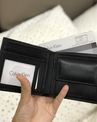 CALVIN KLEIN SMOOTH LAMB BIFOLD COIN - LovelyMadness Clothing Online Fashion Malaysia