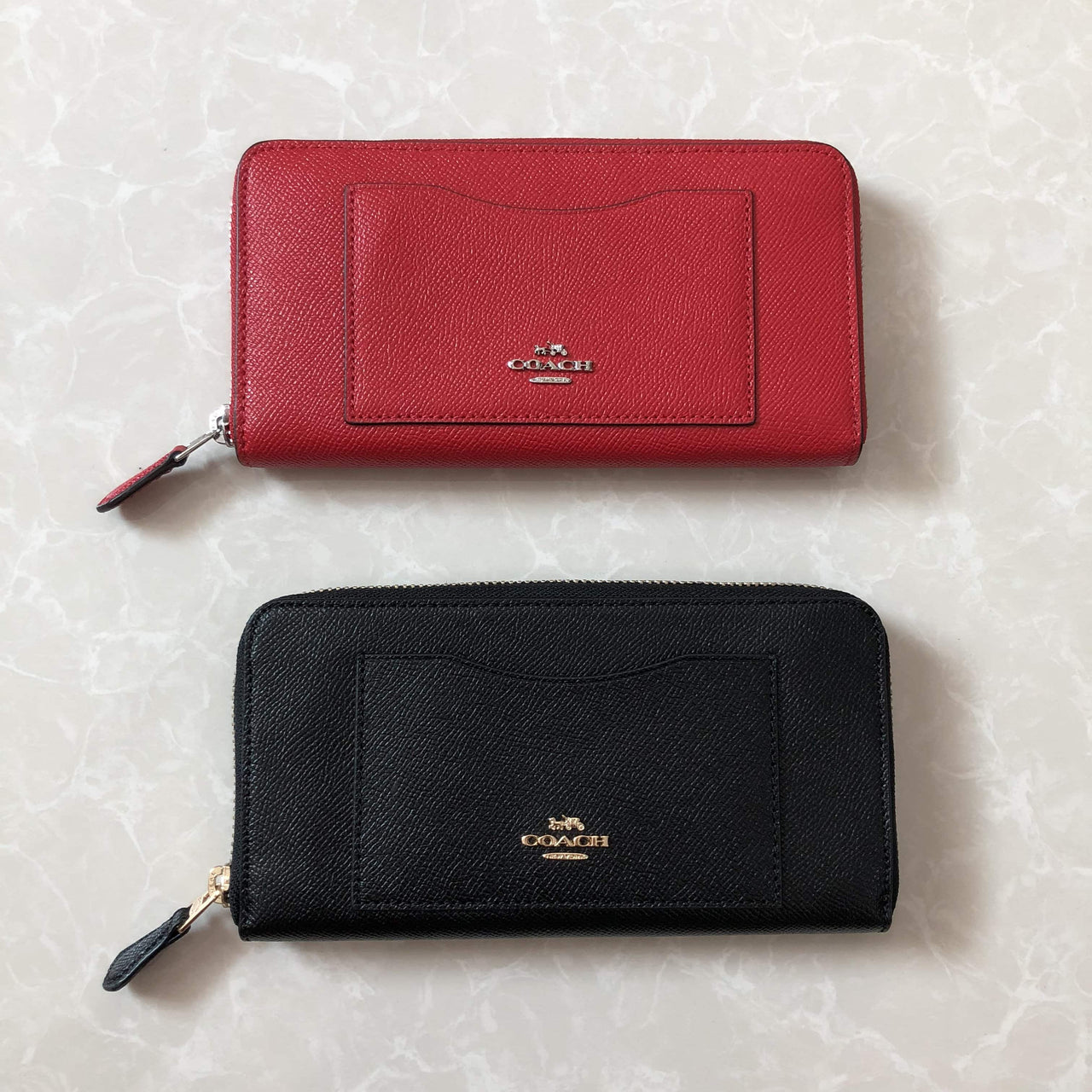 COACH ACCORDION ZIP WALLET IN CROSSGRAIN LEATHER - LovelyMadness Clothing Online Fashion Malaysia