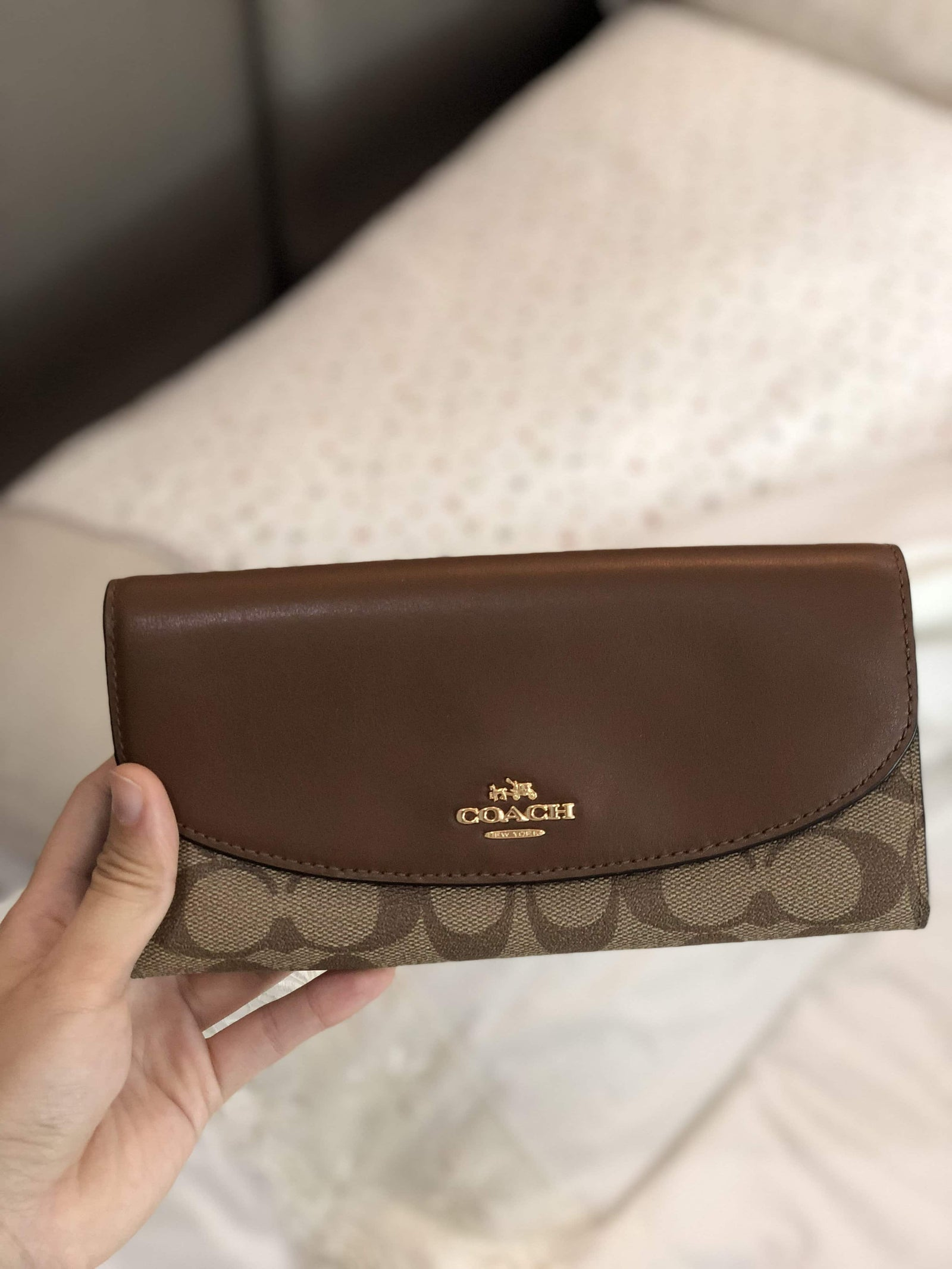 COACH SLIM ENVELOPE WALLET IN SIGNATURE