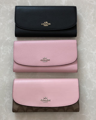 COACH SIGNATURE PVC CHECKBOOK WALLET - LovelyMadness Clothing Online Fashion Malaysia