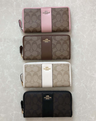 COACH ACCORDION ZIP WALLET IN SIGNATURE COATED CANVAS - LovelyMadness Clothing Online Fashion Malaysia