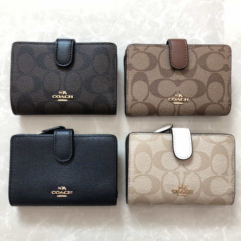 COACH COMPACT ID WALLET IN SIGNATURE