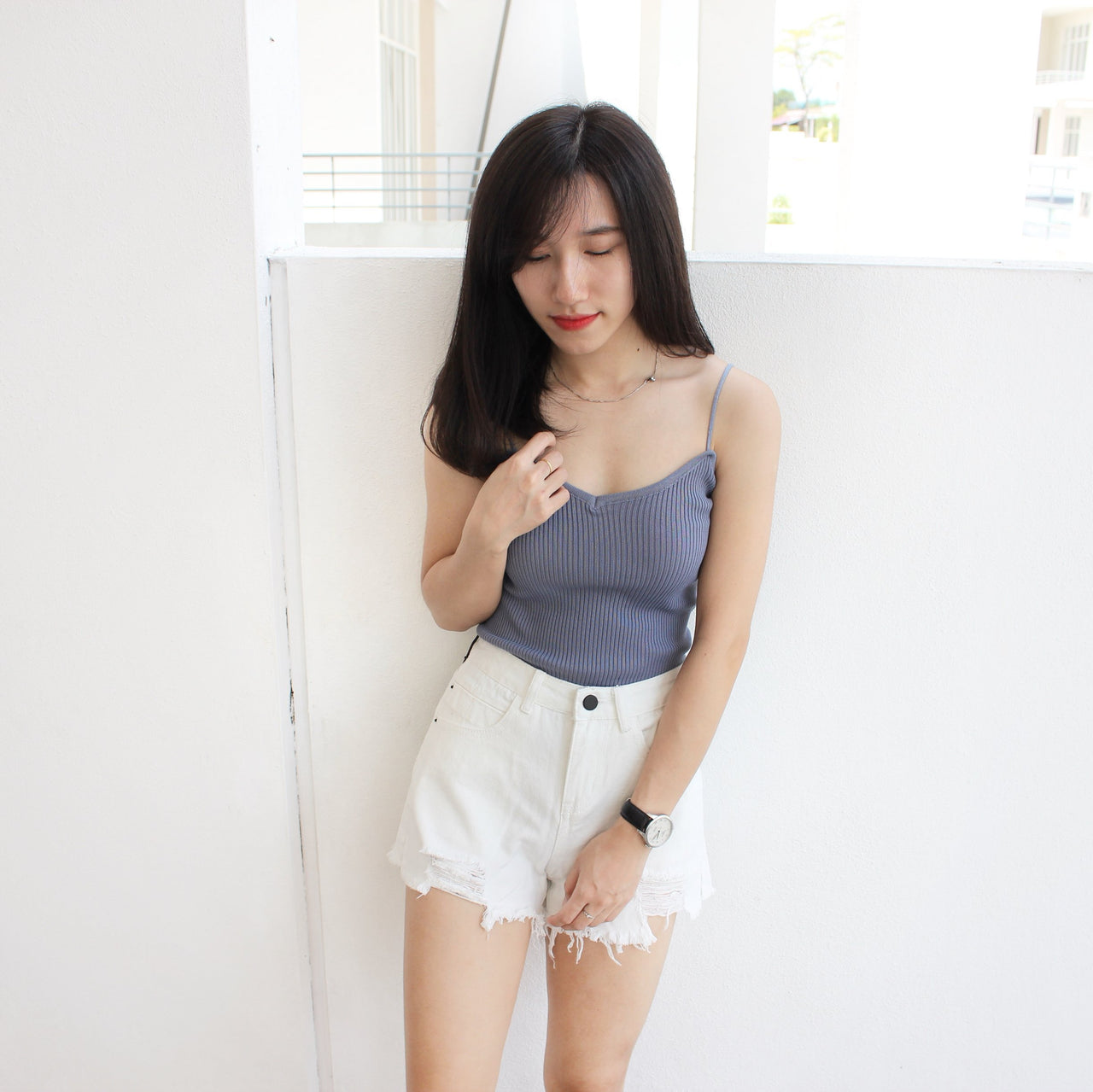 Rib Spaghetti Tank - LovelyMadness Clothing Online Fashion Malaysia