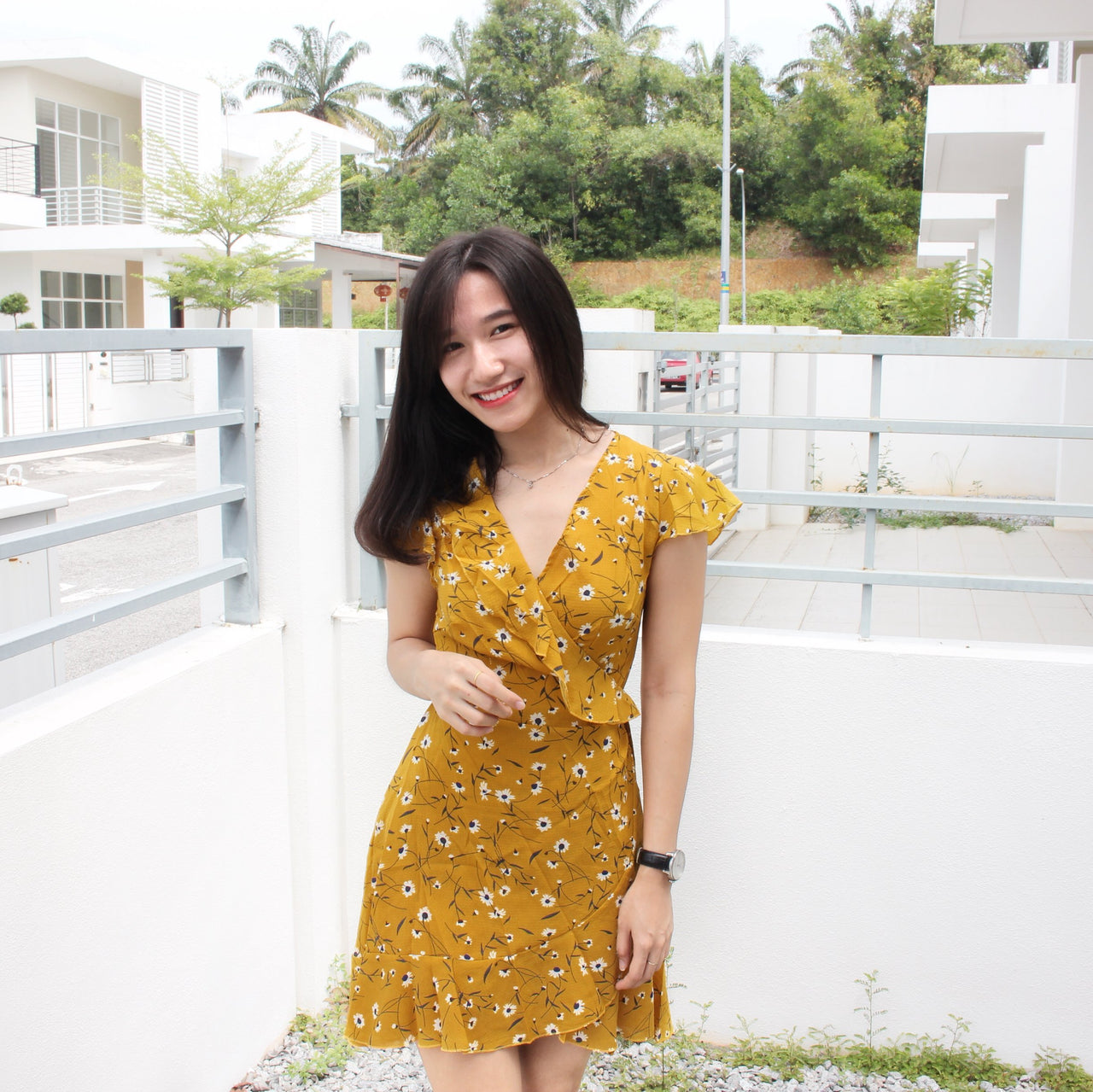 Summer Tulips Wrap Dress - LovelyMadness Clothing Malaysia