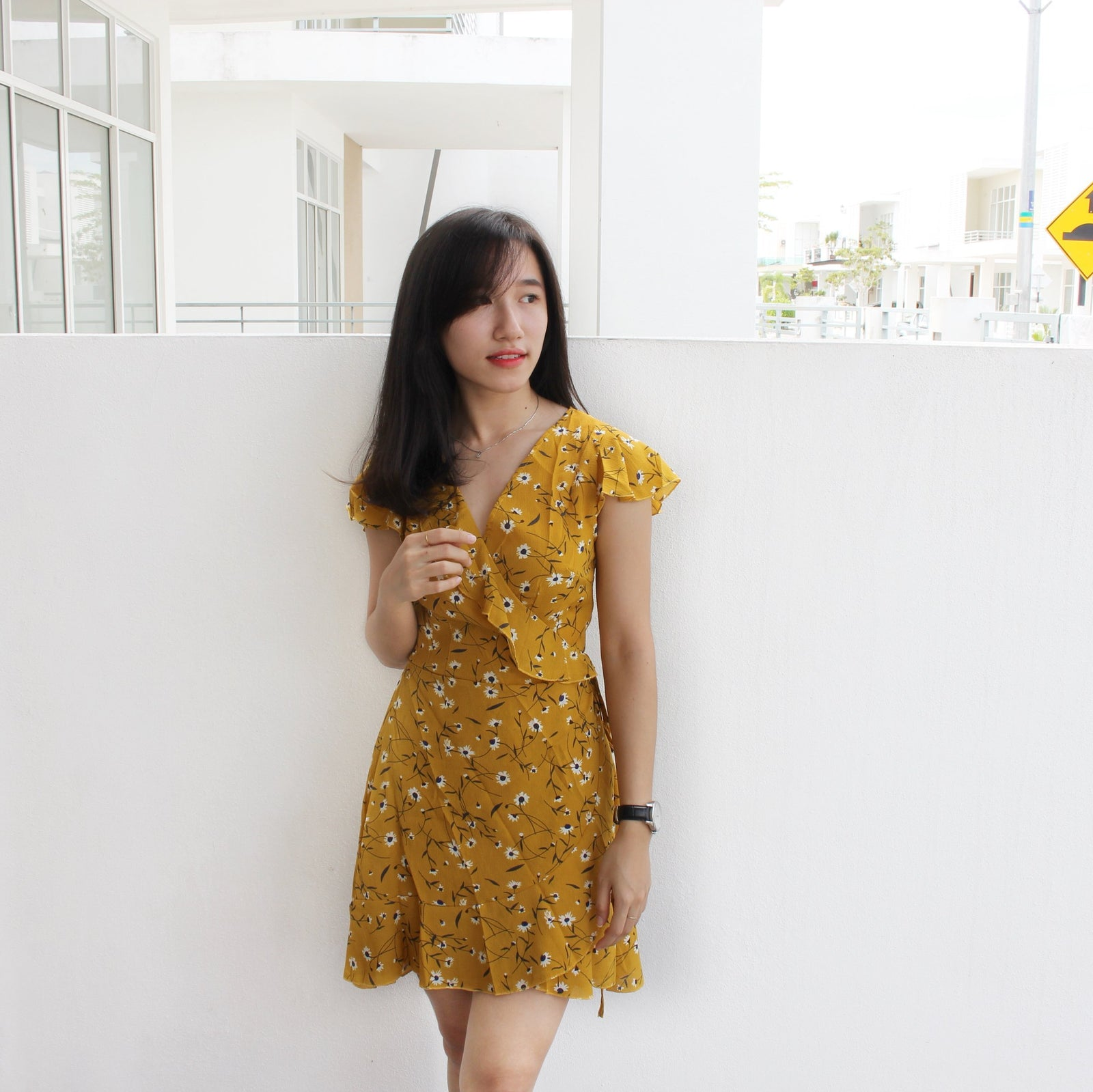 Summer Tulips Wrap Dress