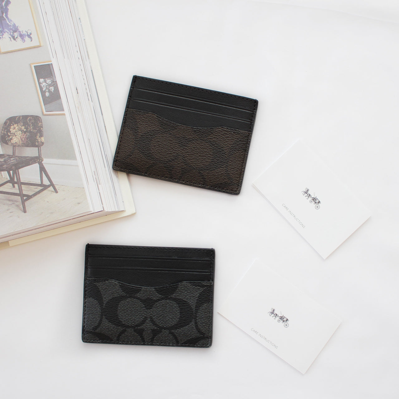 COACH SIGNATURE SLIM CARD CASE - LovelyMadness Clothing Online Fashion Malaysia