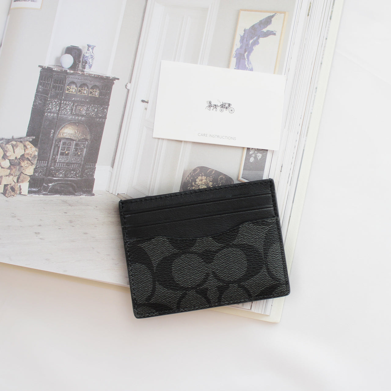 COACH SIGNATURE SLIM CARD CASE - Lovely Madness