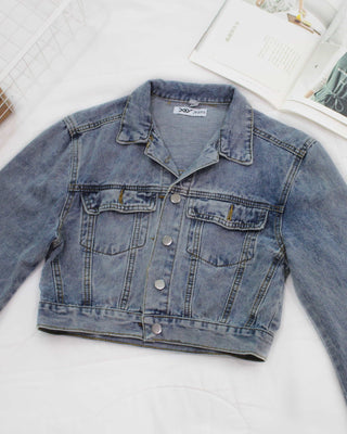 Denim Cropped Jacket - Lovely Madness