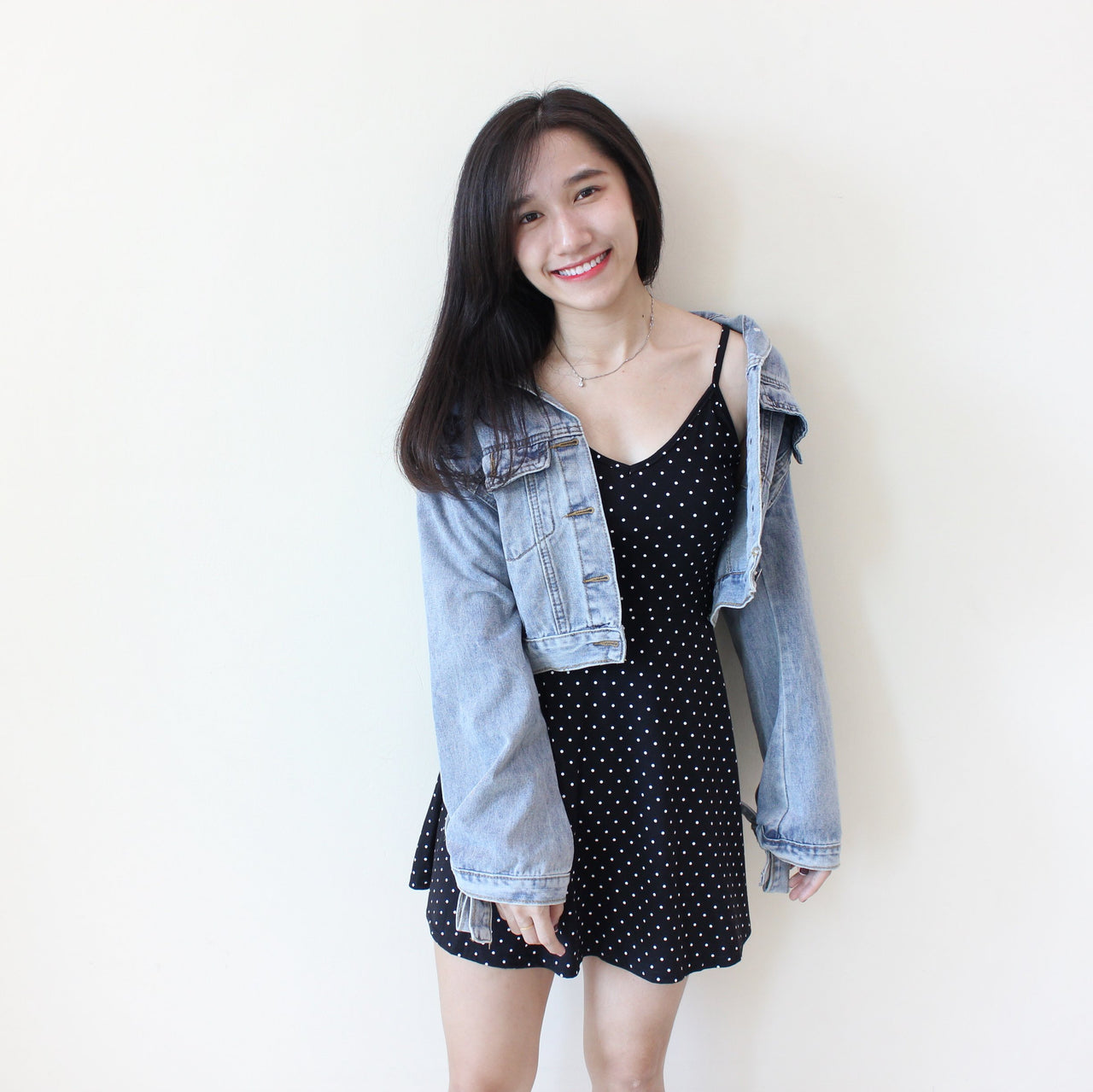 Denim Cropped Jacket - LovelyMadness Clothing Online Fashion Malaysia