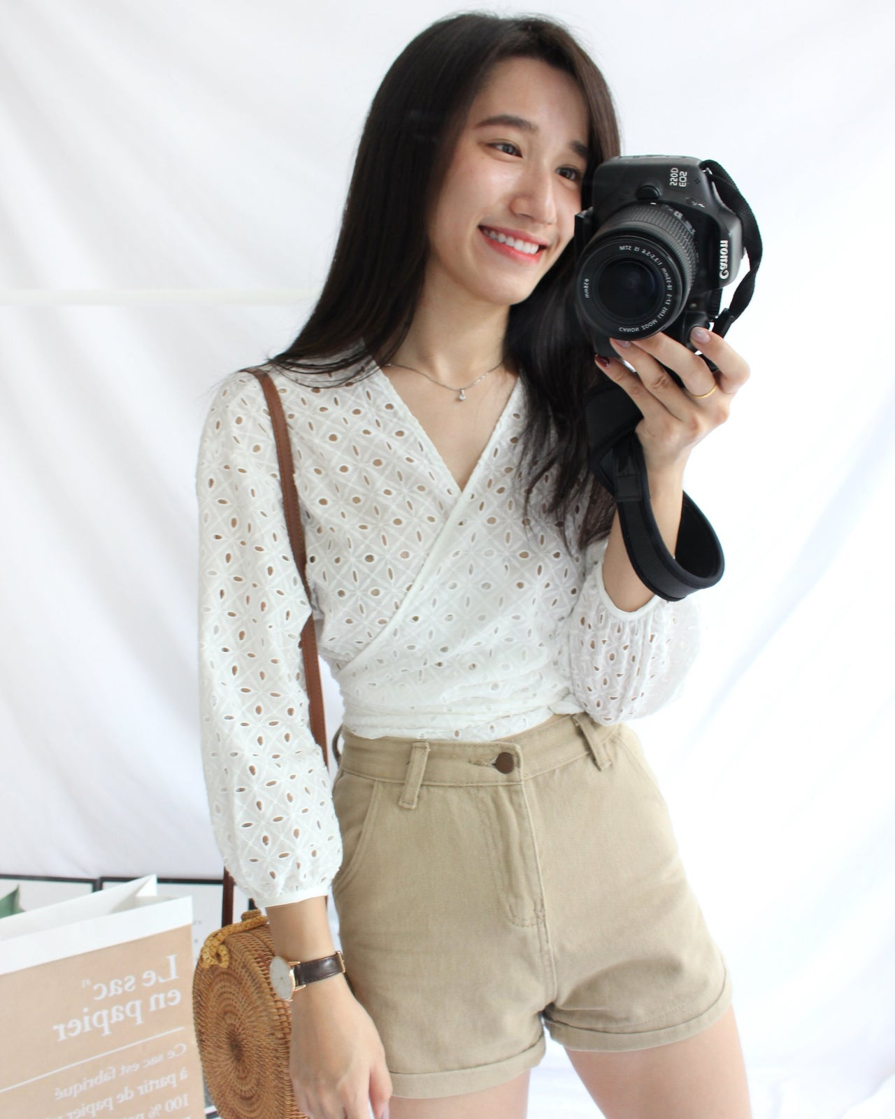 Crochet Wrap Top - LovelyMadness Clothing Online Fashion Malaysia