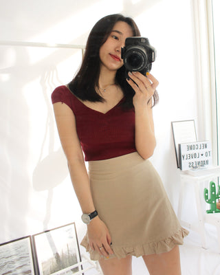 Truffle A Lined Skirt - LovelyMadness Clothing Online Fashion Malaysia