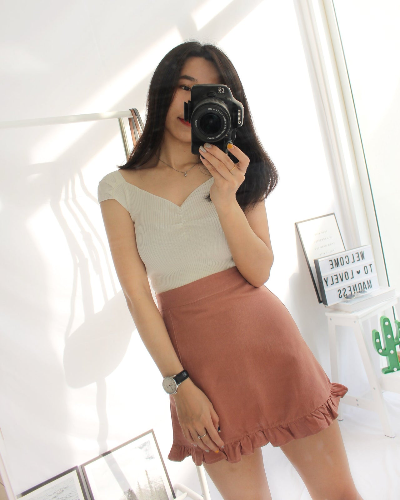 Truffle A Lined Skirt