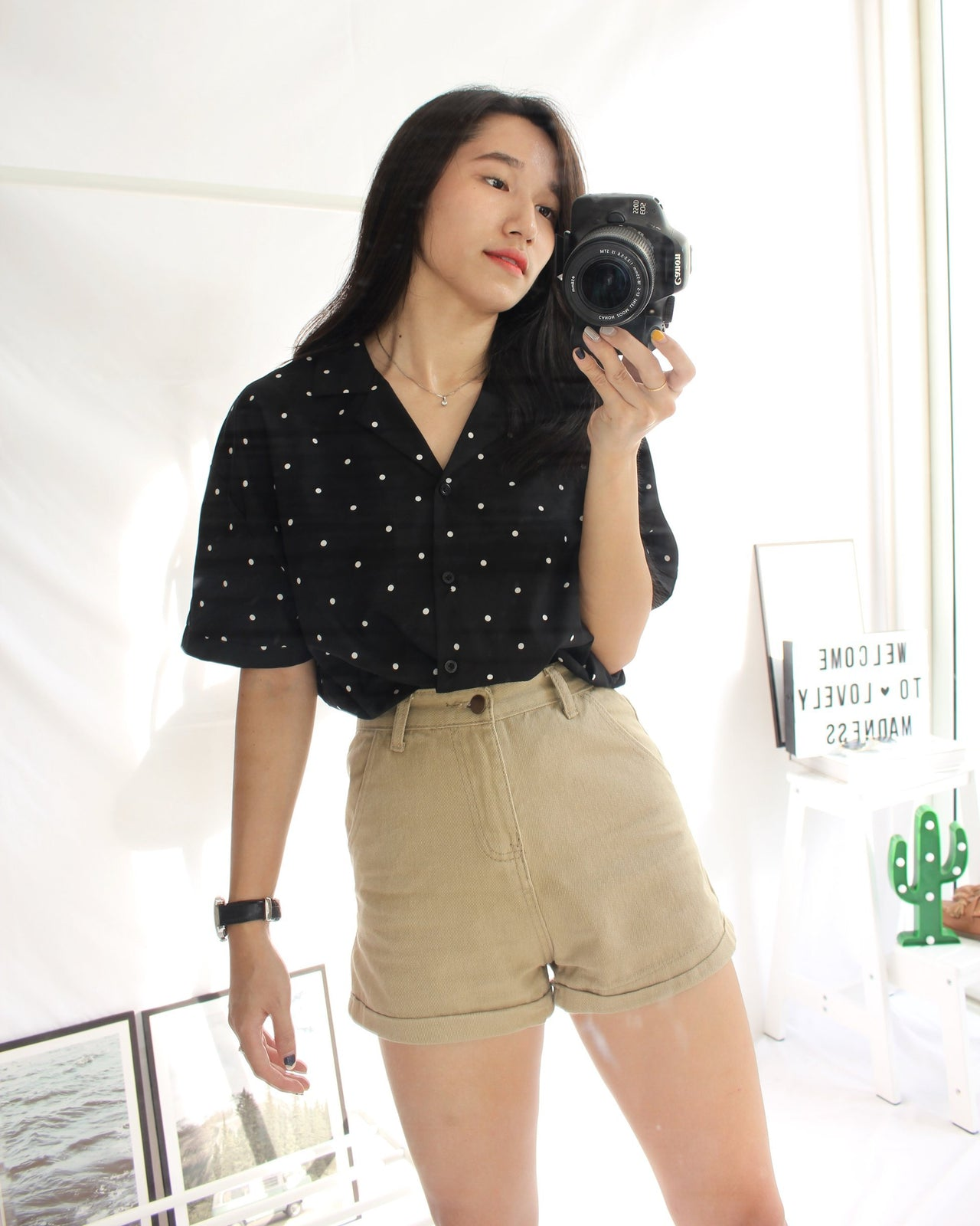 Polka Dots Shirt - LovelyMadness Clothing Online Fashion Malaysia