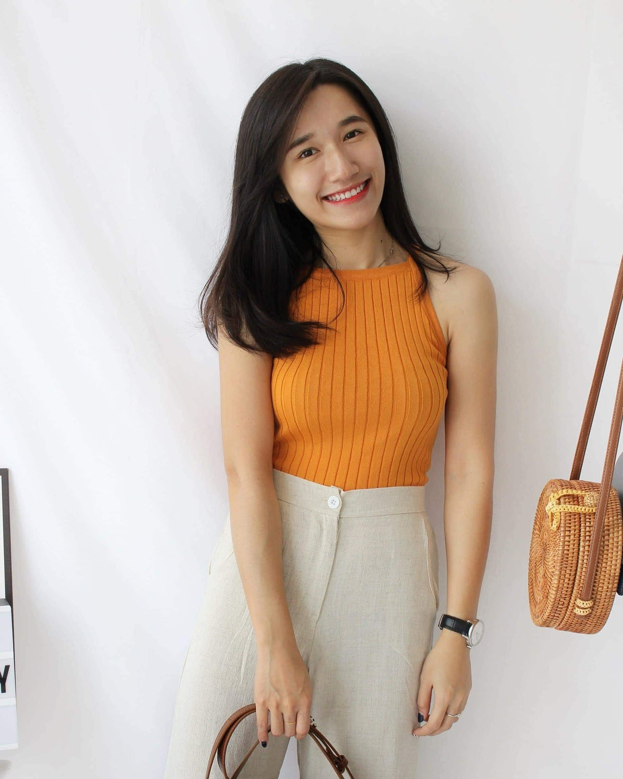 Halter Tank (Mustard) - LovelyMadness Clothing Online Fashion Malaysia