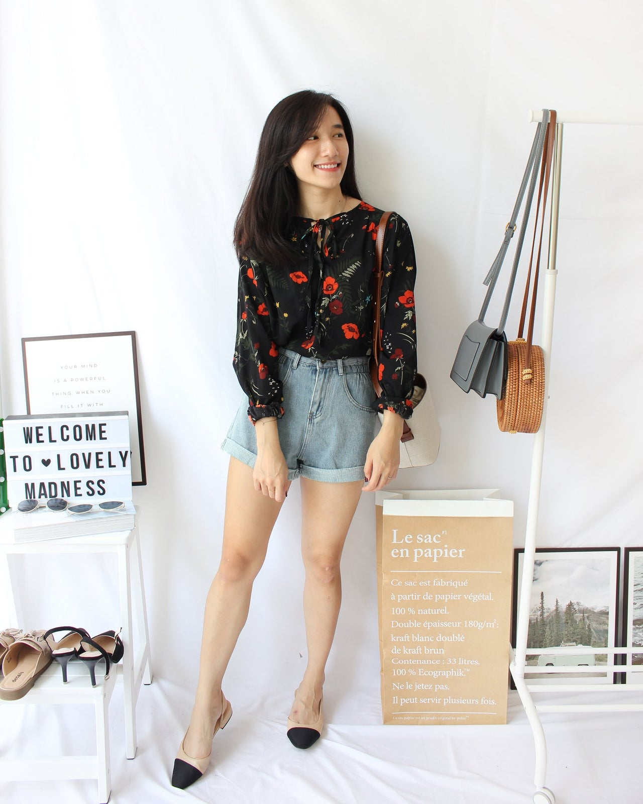 Vintage Floral Blouse - LovelyMadness Clothing Online Fashion Malaysia