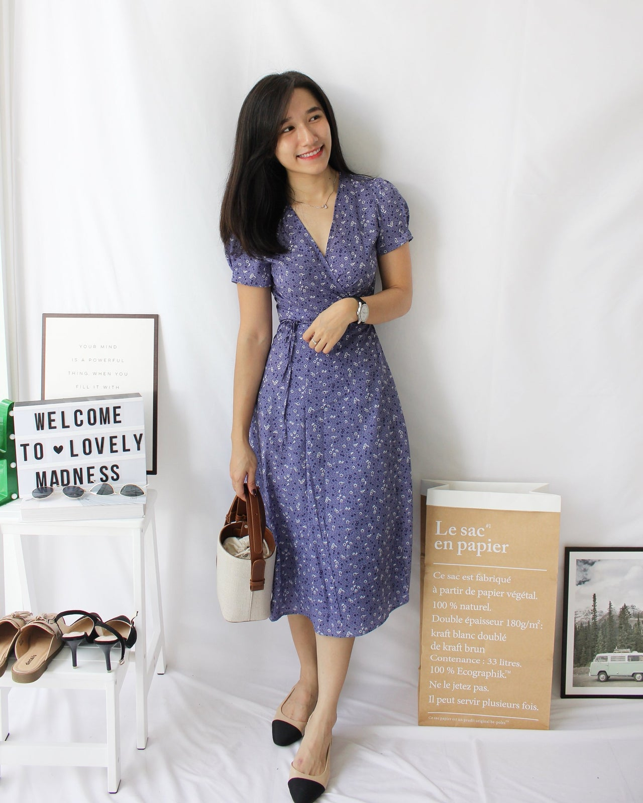 Floral Wrap Long Dress - LovelyMadness Clothing Online Fashion Malaysia