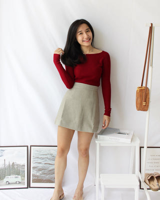 Knitted Off Shoulder Top - LovelyMadness Clothing Online Fashion Malaysia