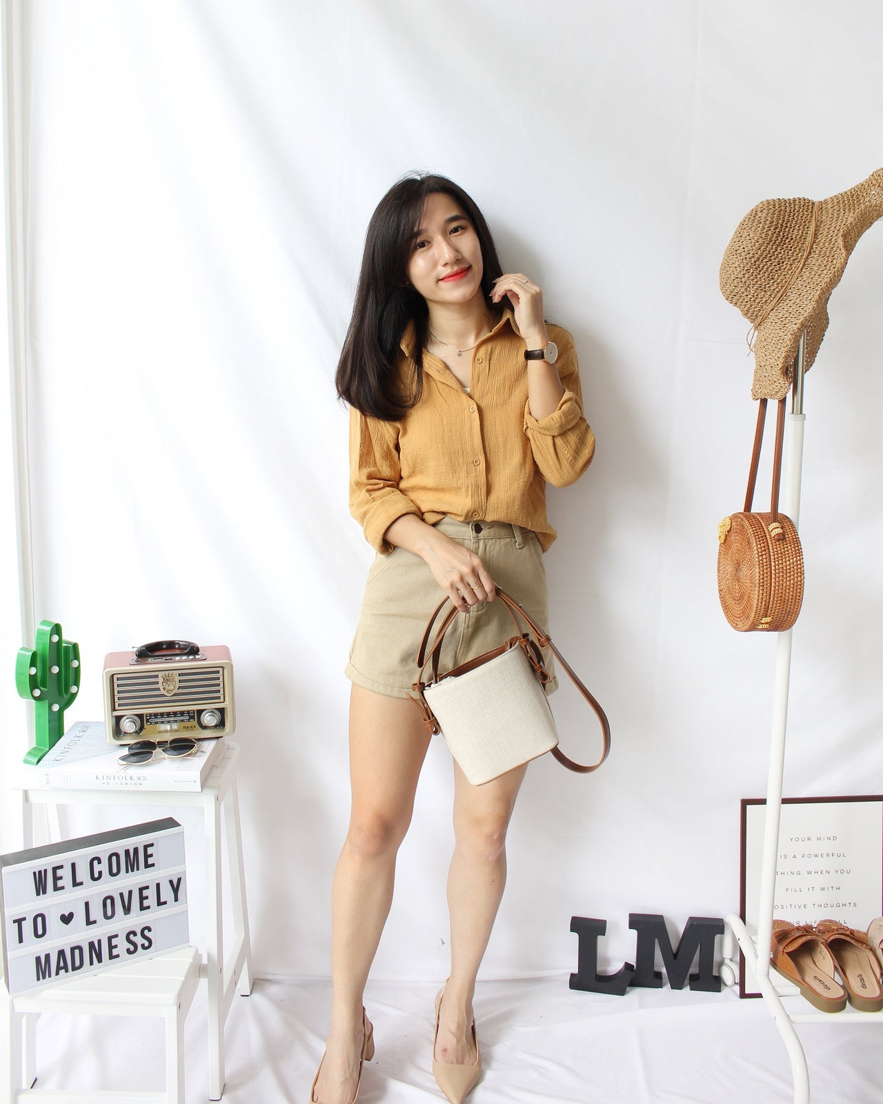 Sandra Collar Blouse - LovelyMadness Clothing Online Fashion Malaysia