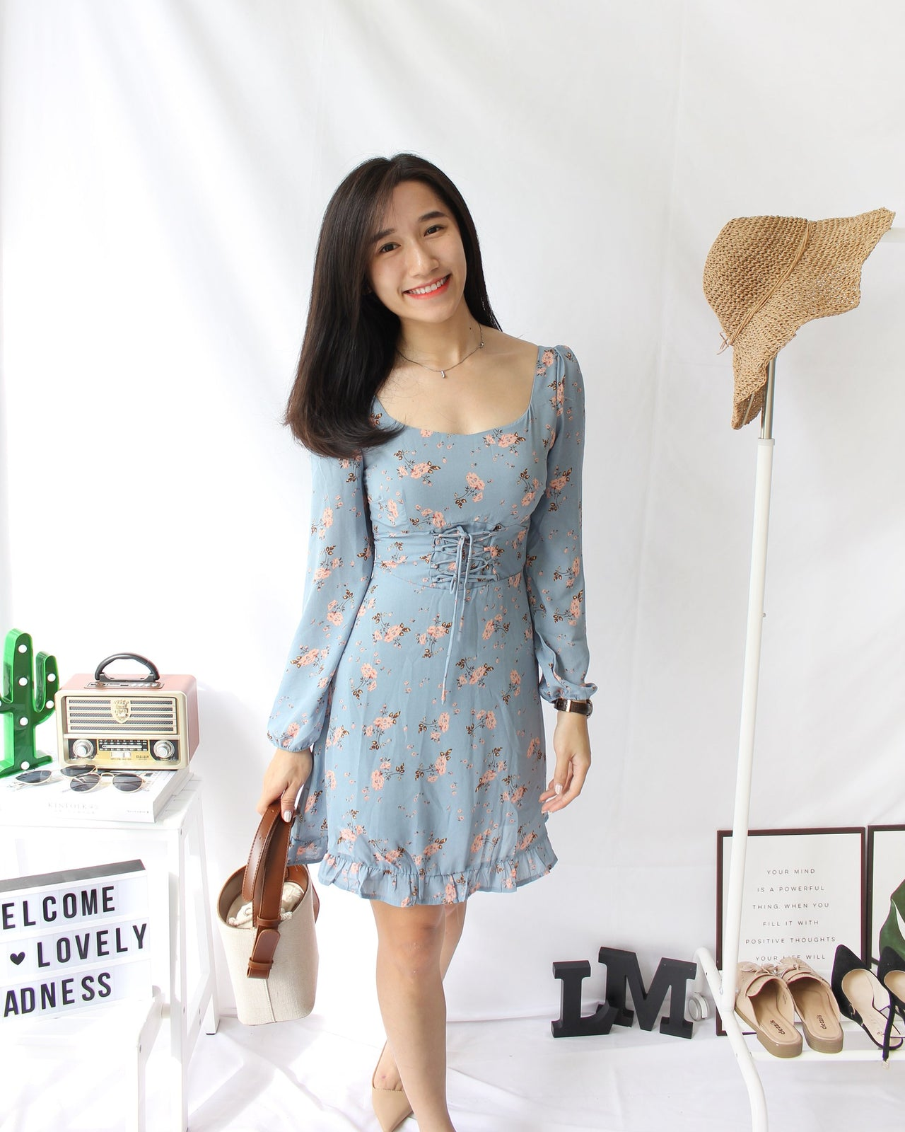 Floral Square Neck Dress - Lovely Madness