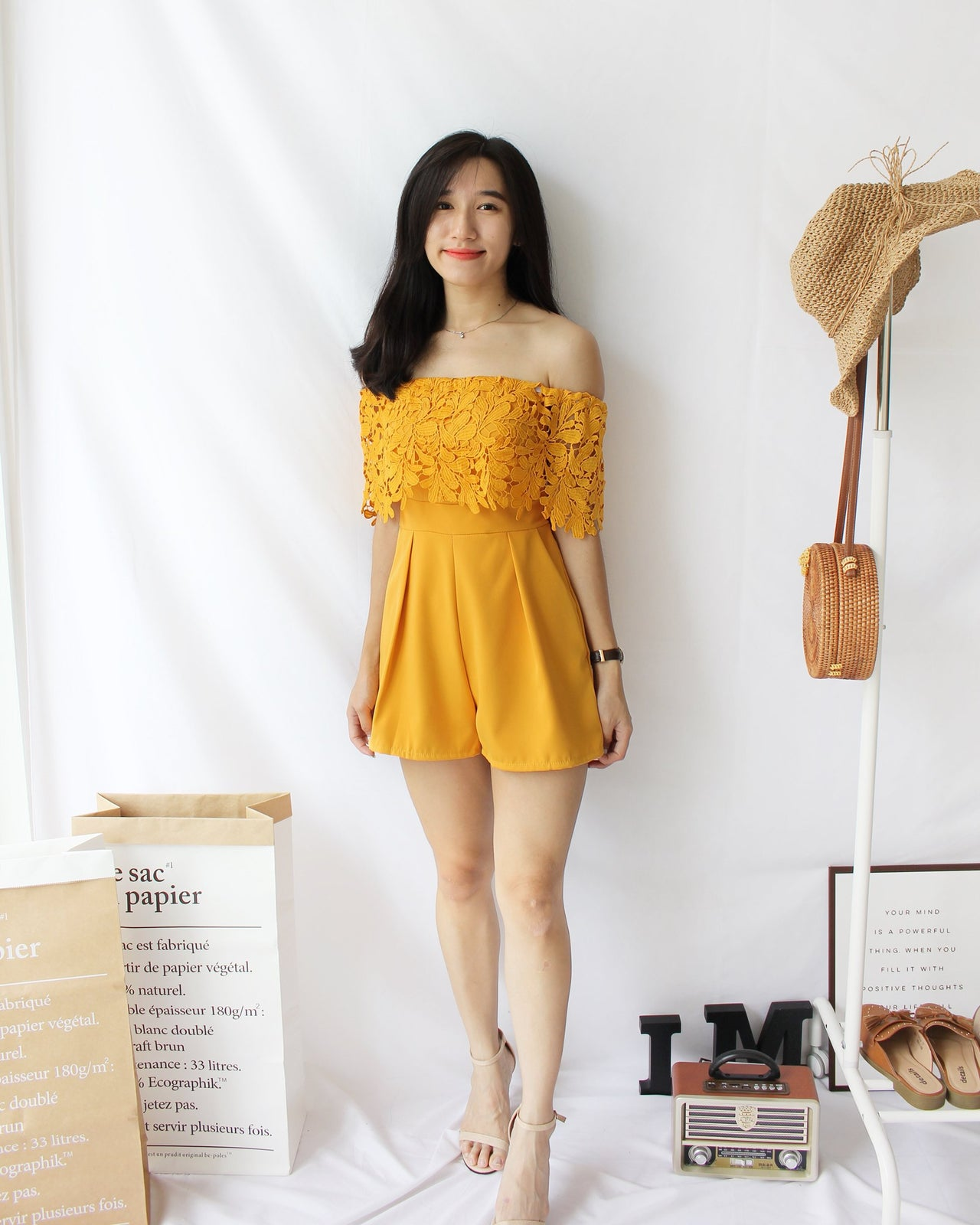 Lacey Romper - LovelyMadness Clothing Online Fashion Malaysia