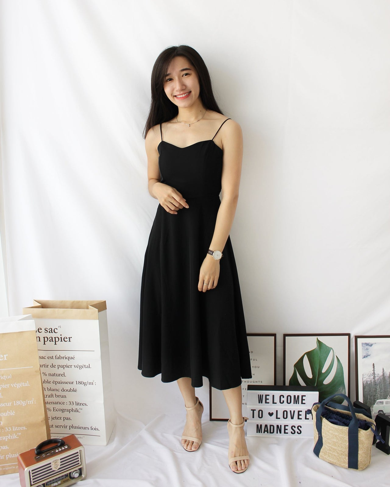 Miyona Cross Back Dress - LovelyMadness Clothing Malaysia