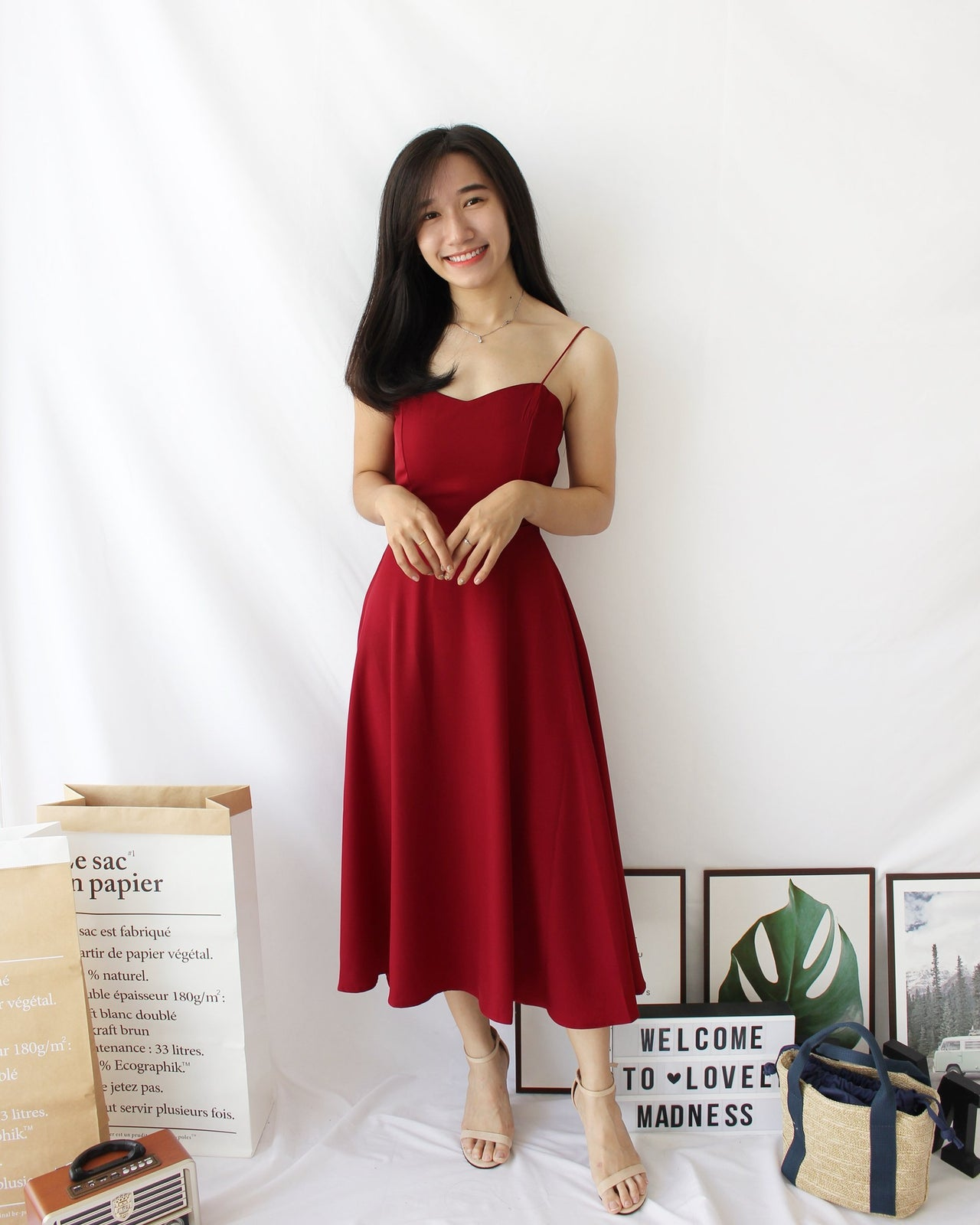 Miyona Cross Back Dress