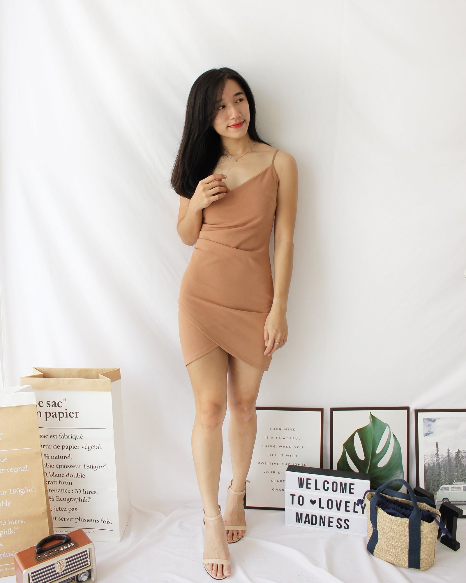 Deep V Bodycon Dress v2 - Lovely Madness