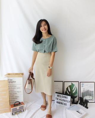 Knitted Midi Skirt - LovelyMadness Clothing Online Fashion Malaysia