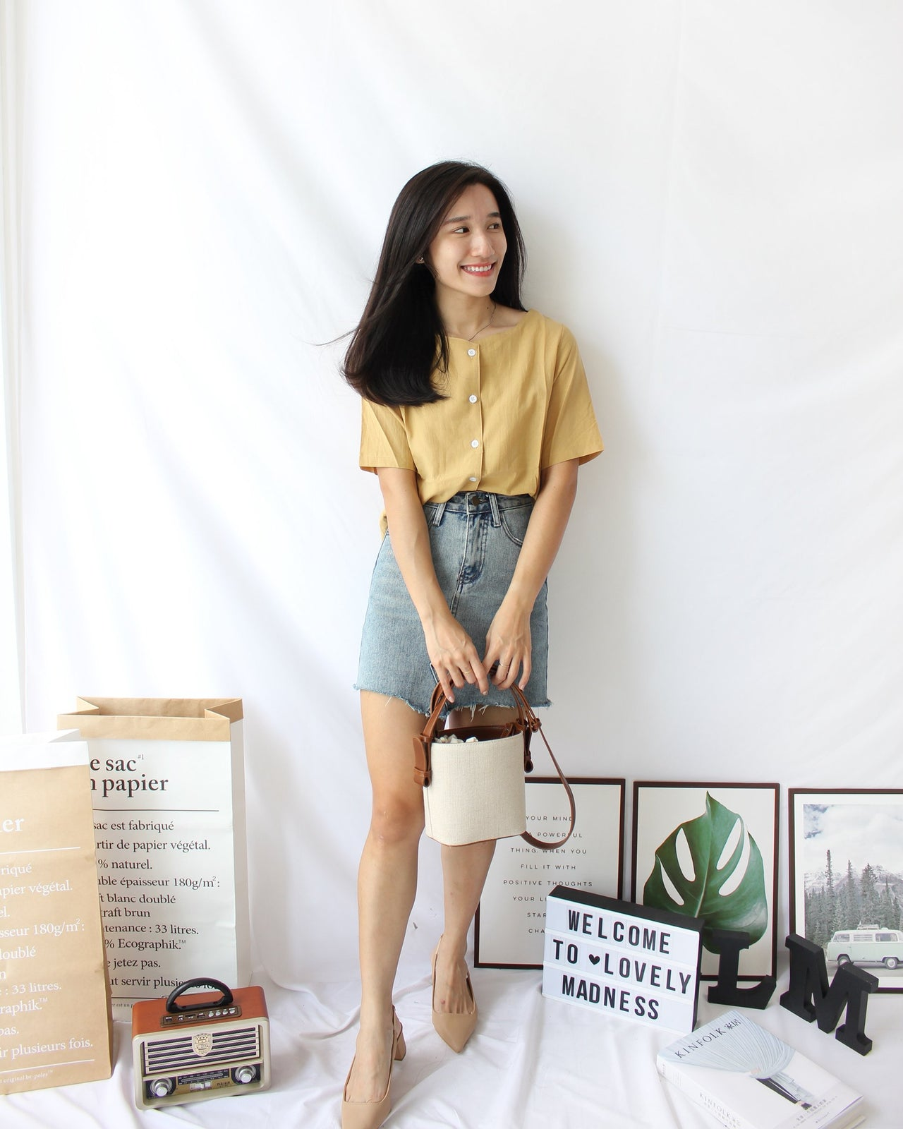 Square Neck Tee - LovelyMadness Clothing Online Fashion Malaysia