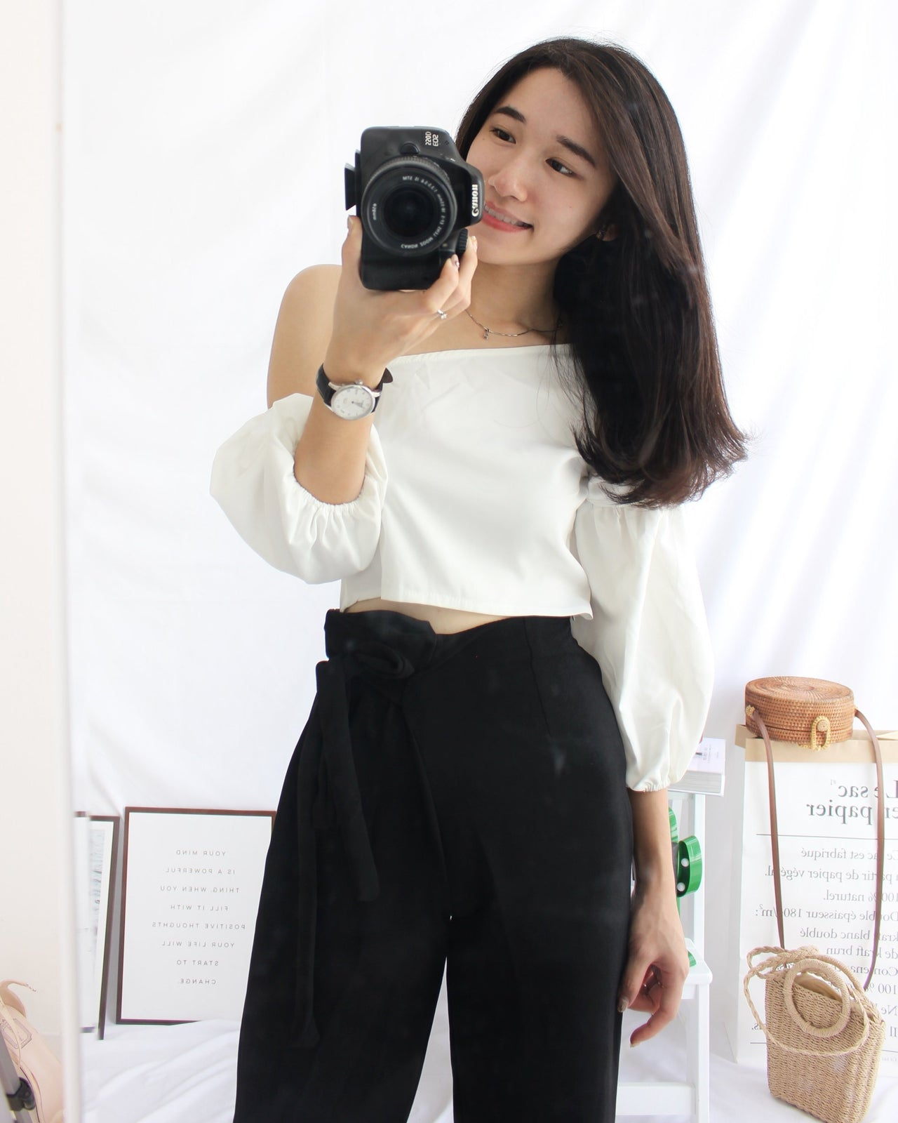 Oblique Off Shoulder Top