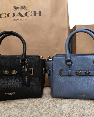 COACH HANDBAGS MINI BLAKE CARRYALL IN BUBBLE LEATHER - LovelyMadness Clothing Online Fashion Malaysia