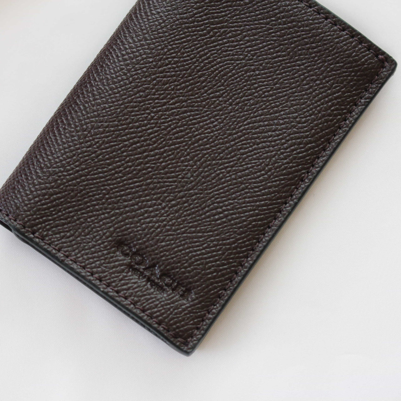 COACH BIFOLD CARD CASE IN CROSSGRAIN LEATHER - Lovely Madness