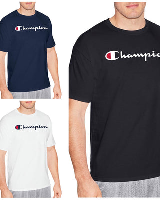 Champion Men's Cotton Script Logo Tee - Lovely Madness
