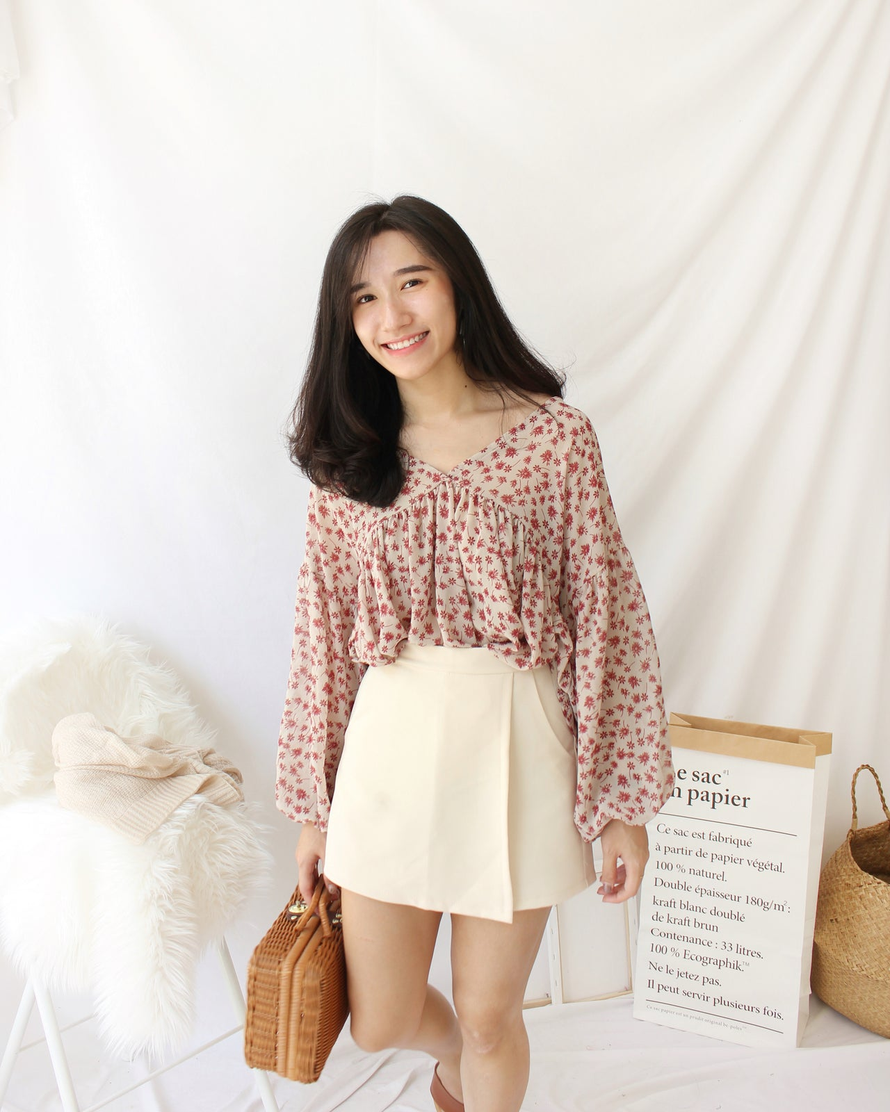 Floral Flare Top - LovelyMadness Clothing Online Fashion Malaysia