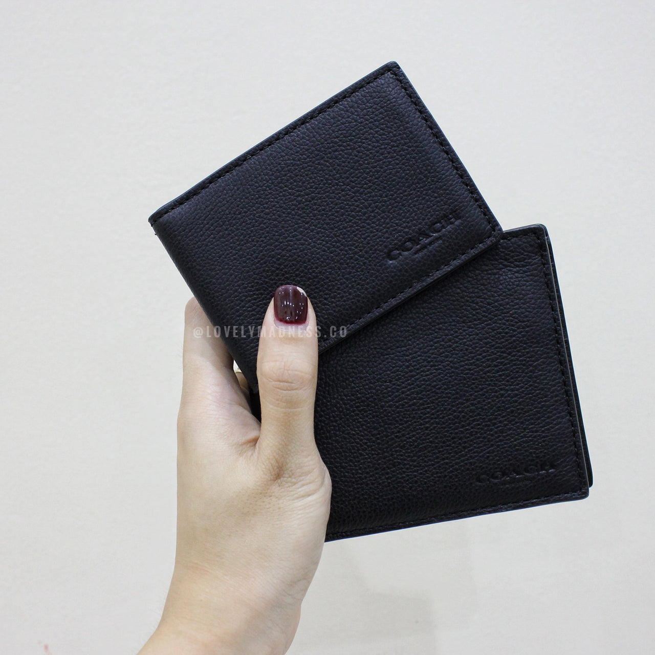 COACH COMPACT ID WALLET IN SPORT CALF LEATHER - LovelyMadness Clothing Malaysia