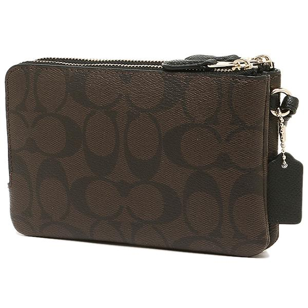 COACH DOUBLE CORNER ZIP SIGNATURE COATED CANVAS - LovelyMadness Clothing Malaysia