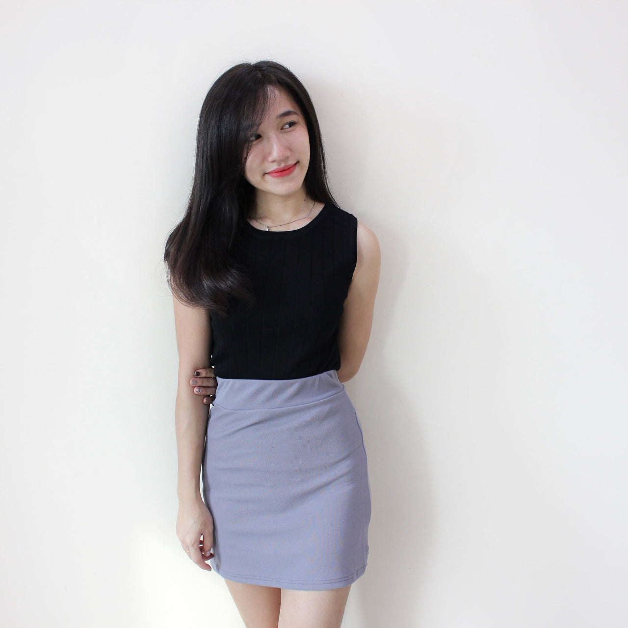Rib Sleeveless Top - LovelyMadness Clothing Online Fashion Malaysia
