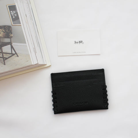 COACH CARD CASE IN SIGNATURE CANVAS
