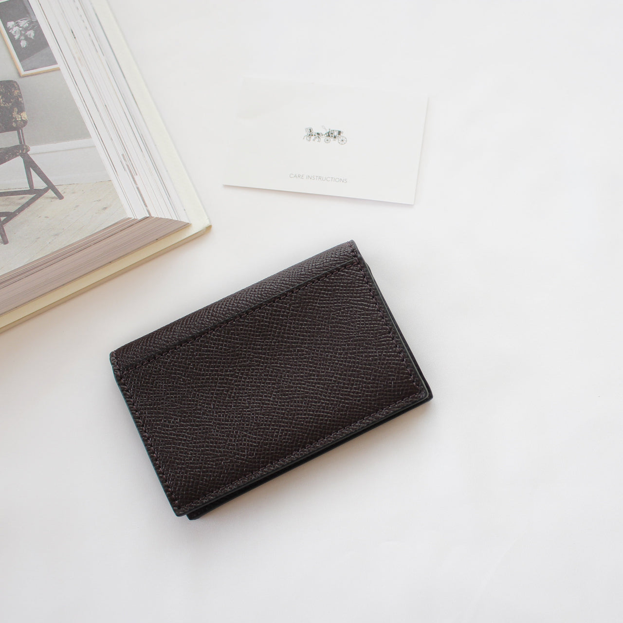 COACH BIFOLD CARD CASE IN CROSSGRAIN LEATHER - LovelyMadness Clothing Malaysia