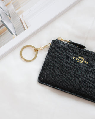 COACH MINI SKINNY ID CASE IN CROSSGRAIN LEATHER - Lovely Madness