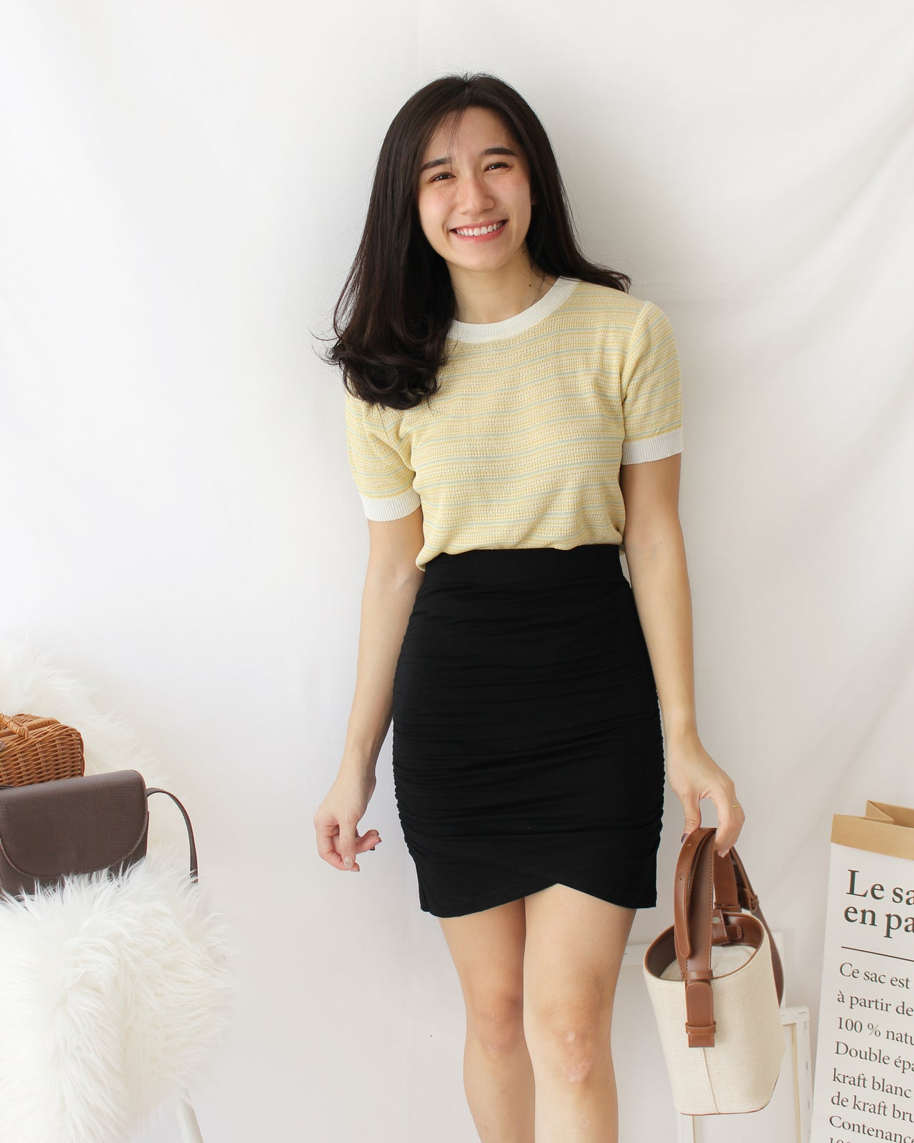 Cotton Wrap Skirt - LovelyMadness Clothing Online Fashion Malaysia