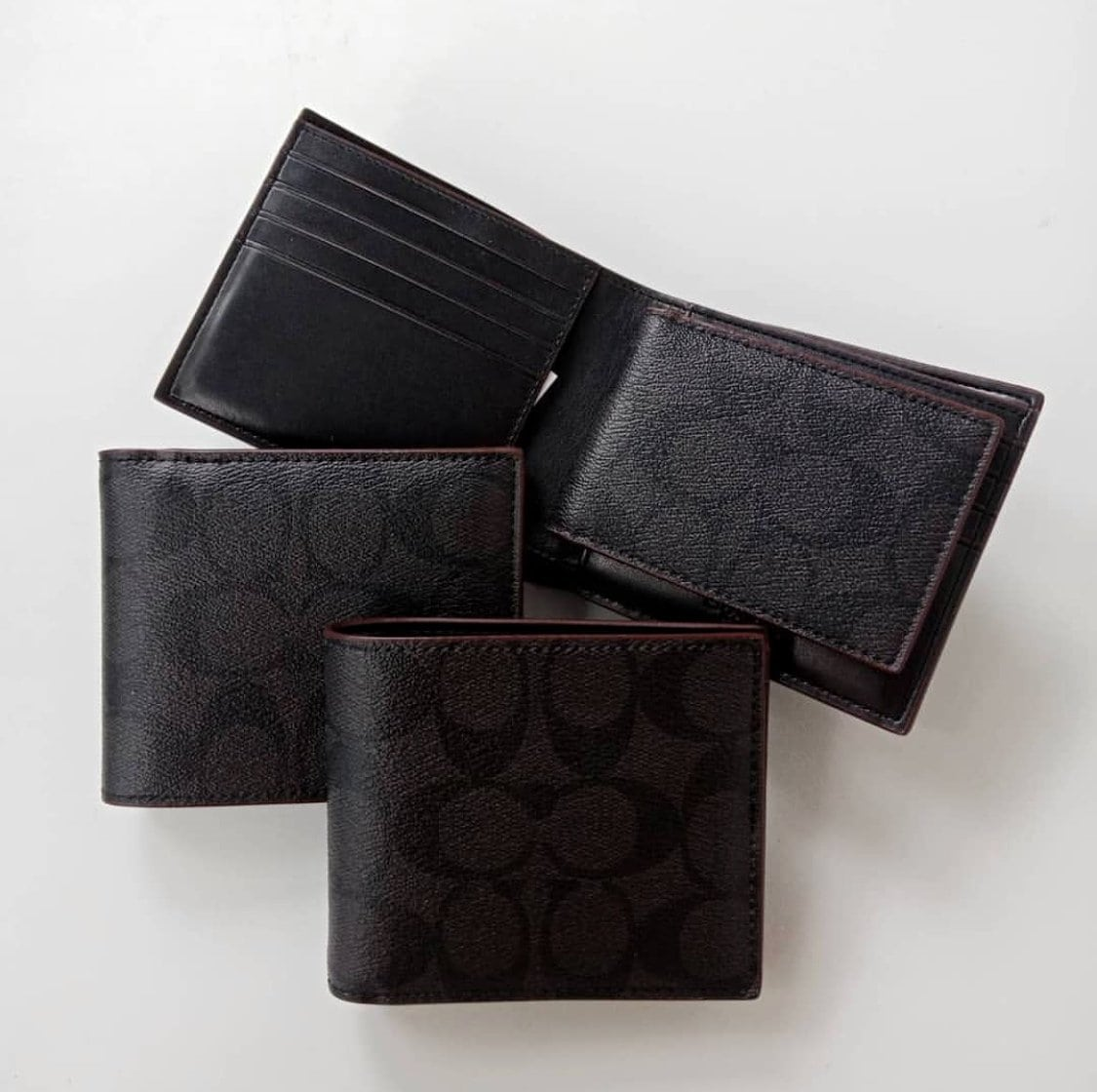 COACH SIGNATURE COMPACT ID PVC MEN WALLET - LovelyMadness Clothing Online Fashion Malaysia