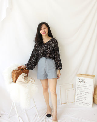 Blue Grey Short - LovelyMadness Clothing Online Fashion Malaysia