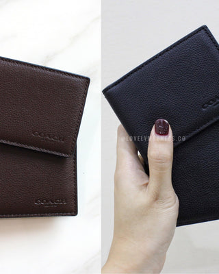 COACH COMPACT ID WALLET IN SPORT CALF LEATHER - LovelyMadness Clothing Online Fashion Malaysia