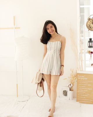 Stripe Ribbon Romper - LovelyMadness Clothing Online Fashion Malaysia