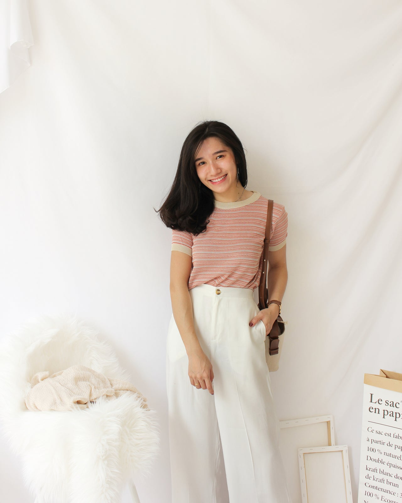 Pastel Knitted Top - LovelyMadness Clothing Online Fashion Malaysia