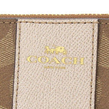 COACH SIGNATURE PVC LEATHER CORNER ZIP WRISTLET - Lovely Madness