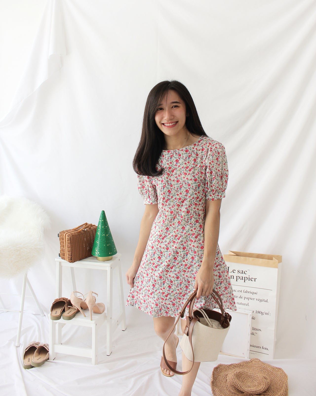 Vintage Floral Dress - LovelyMadness Clothing Online Fashion Malaysia
